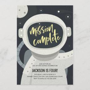 Outer Space Astronaut Birthday Invitation