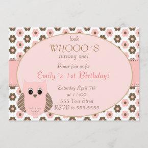 Owl Birthda Invitation Girl Birthday Party