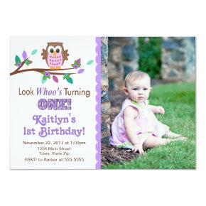 Owl Birthday Invitation 1st Birthday Party
