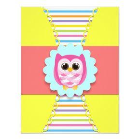 Owl Birthday Invitations for Kids