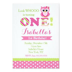 Owl First Birthday Party