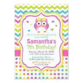 Owl Invitations / Owl Birthday Invitations / Invite