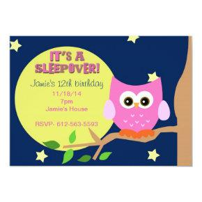 Owl Sleepover Invite