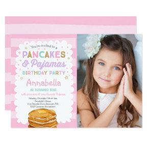 Pancake And Pajamas Birthday Invitation PJ's Party