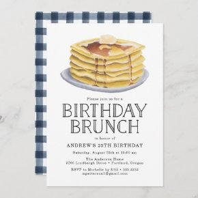 Pancake Brunch | Birthday Party Invitation