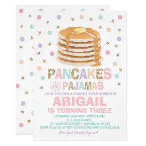 Pancakes and Pajamas Birthday Invitation