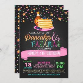 Pancakes & Pajamas Birthday Invitation