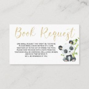 Panda Book Request  for Baby Shower Birthday