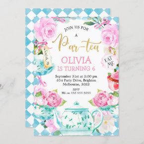 Par-tea Tea Party Birthday Invitation