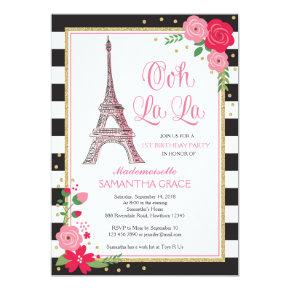 Paris Birthday Invitations / Paris Birthday Invite