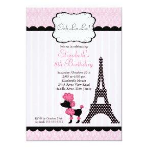 Paris Pink Poodle Birthday Party