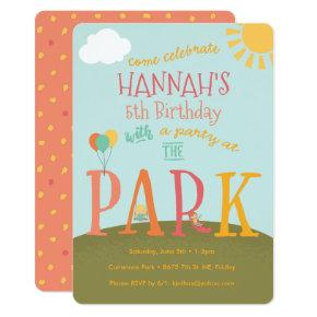 Park Birthday Party Invitation | Playground Party