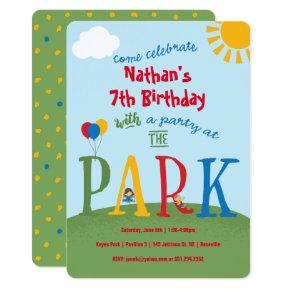 Party at the Park Birthday Invitation