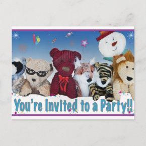 Party Bear Invitation