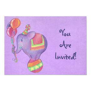 Party Elephant Invitations