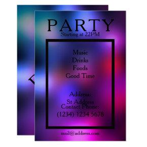 Party night cool smooth club style Invitations