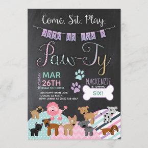 Pawty  Dog Puppy Birthday
