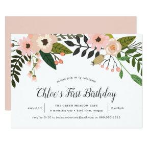 Peach Meadow | Birthday Party Invitation