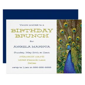 Peacock Party Birthday Brunch Invitations
