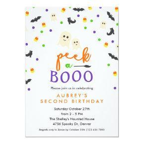 Peek a Booo Cute Birthday Party Invitation