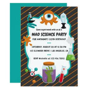 Personalised Mad Science Birthday Party Invitation