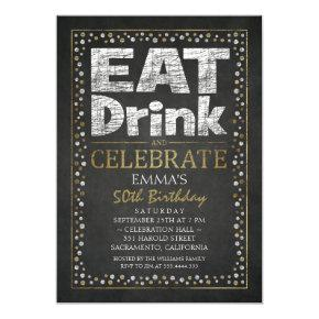 Personalized Adult 50th Birthday Party Invitations