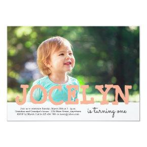 Personalized Girl or Boy Photo Birthday Invitations