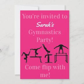 Personalized Gymnastics Birthday Party Invitation