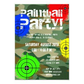 Personalized paintball party
