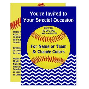 Personalized Softball Party