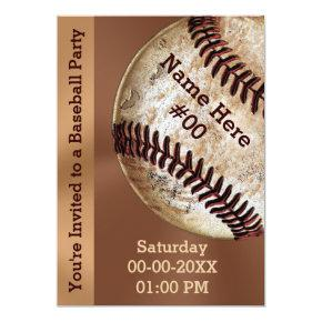 Personalized Vintage Baseball Party