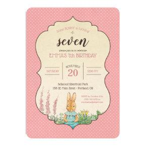 Peter Rabbit | Little Girl's Birthday Invitation