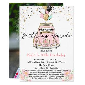 PHOTO - Drive By Birthday Party Invitation