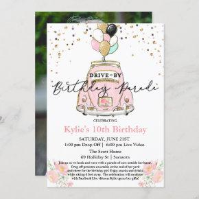 PHOTO - Drive By Birthday Party Invitation
