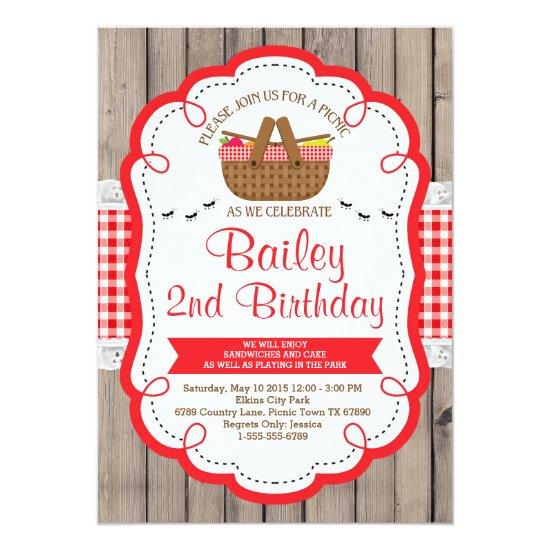 picnic birthday party invitations park party candied clouds