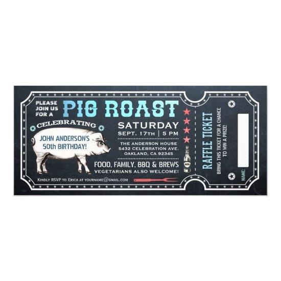 pig roast ticket invitations with raffle ticket v4 candied clouds