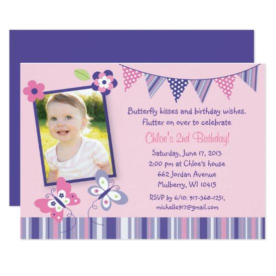 Pink Butterfly 1st Birthday