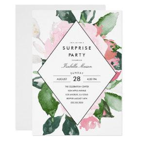 Pink Floral | Surprise Party Invitations