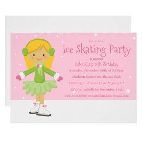 Pink Ice Skating | Birthday Party Invite