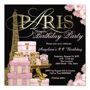 Pink Paris Birthday Party