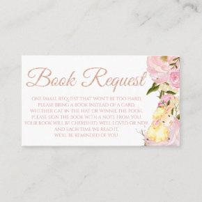 Pink Peony Sheep Book Request  for Baby Shower