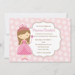Pink Princess Birthday  (Pastel Flower)
