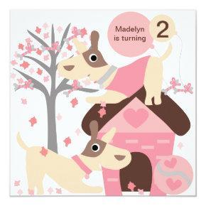 Pink Puppy Dog Custom Birthday