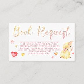 Pink Sheep Lamb Book Request  for Baby Shower
