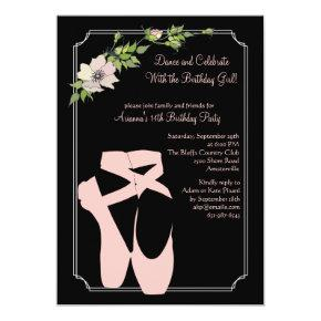 Pink Toe Shoes Invitations
