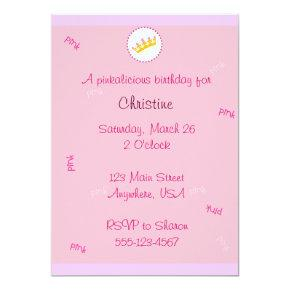 Pinkalicious invitation