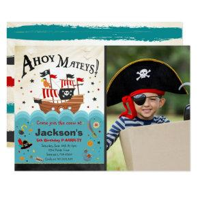 Pirate Birthday Invitation Ahoy Pirate Party Bash