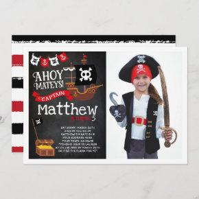 Pirate Birthday Invitation with Photo
