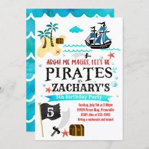 Pirate birthday party invitation Pirates