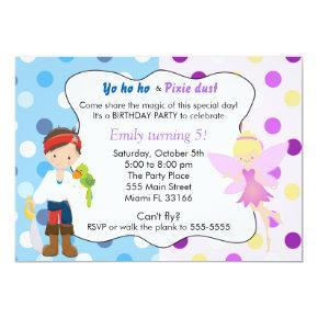 Pirate Fairy Birthday Invitations